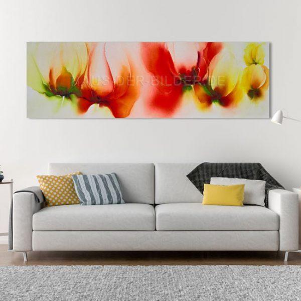 Acrylbild auf Leinwand Orange Blumen