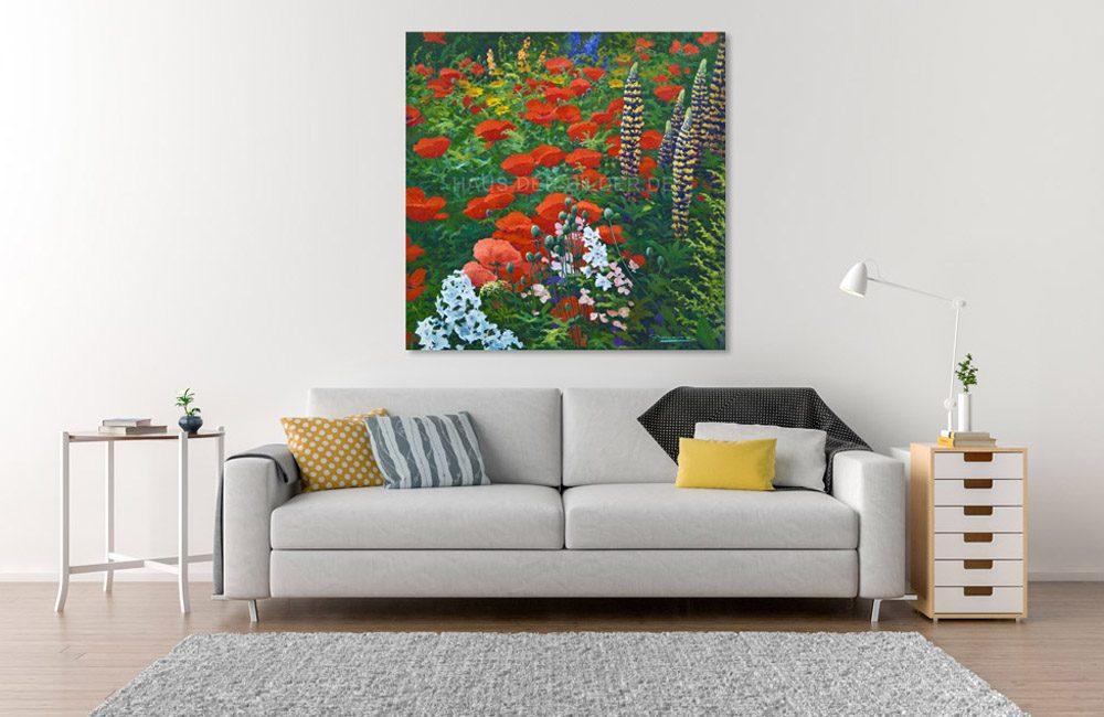 Leinwandbild Garten Blumen