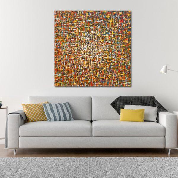 Leinwandbild Wohnzimmer Farbspiele