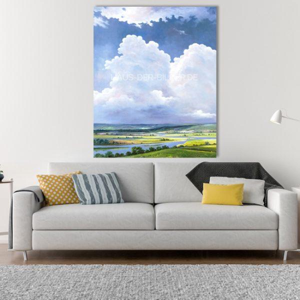 Acrylbild auf Leinwand Flusslandschaft
