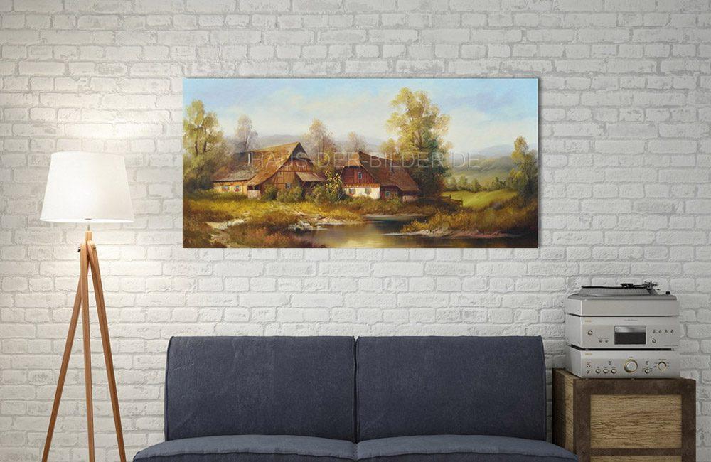 Landschaftsidylle Ölbild