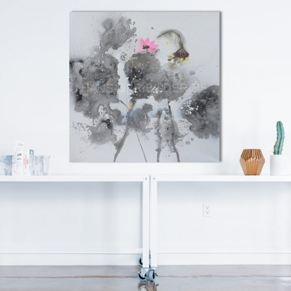 Acrylbild auf Leinwand Grau