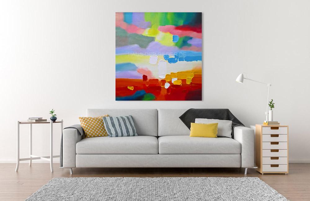 Acrylbild auf Leinwand Farben