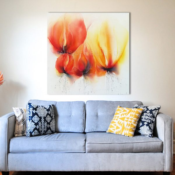 Acrylbild auf Leinwand Blumen