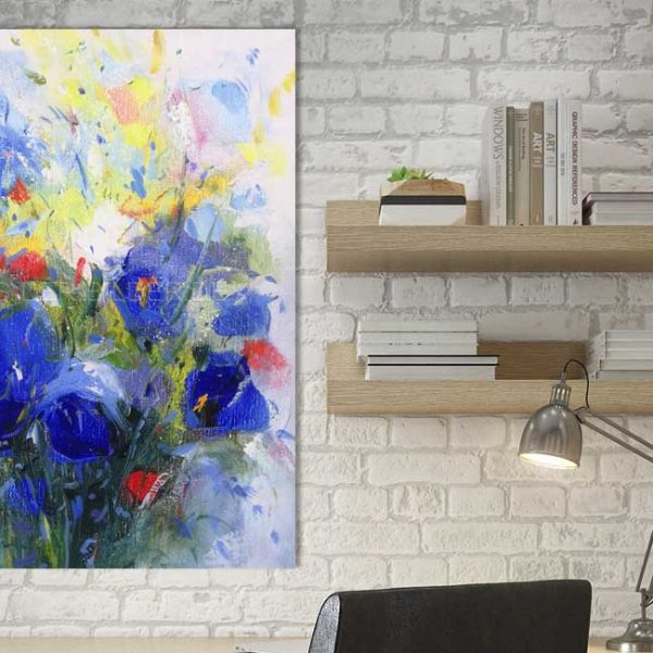 Blaue Blume Abstraktes Bild