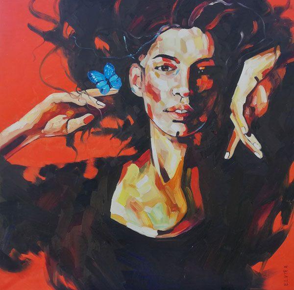Leinwand Portrait Frau