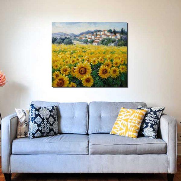 Leinwandbild Sonnenblume Girasole