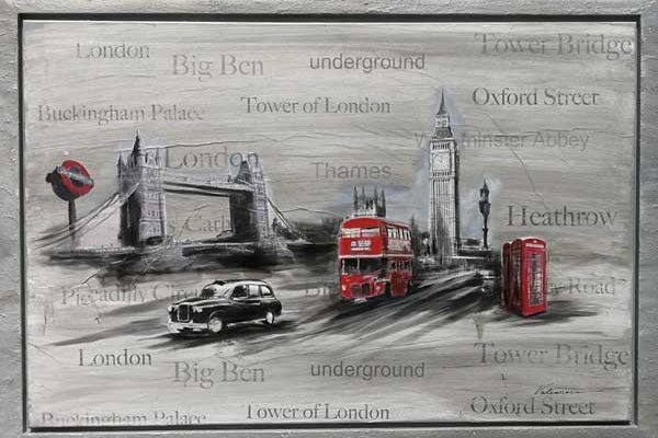 Collage London Leinwandbild