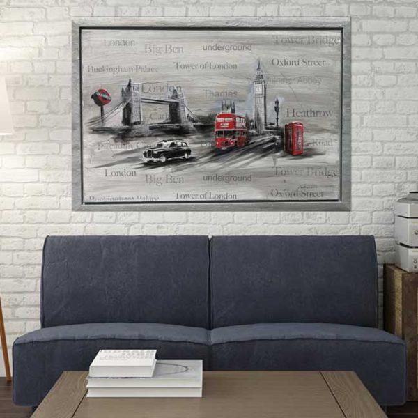 Collage London Leinwandbild