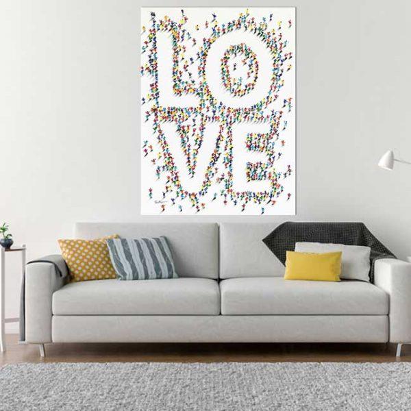 Leinwandbild Love Wohnzimmer