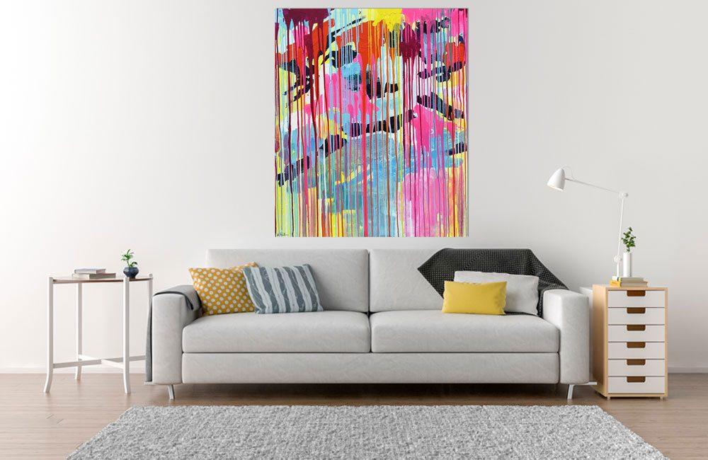 Farbiges abstraktes Bild der Künstlerin Foster bei Haus der Bilder