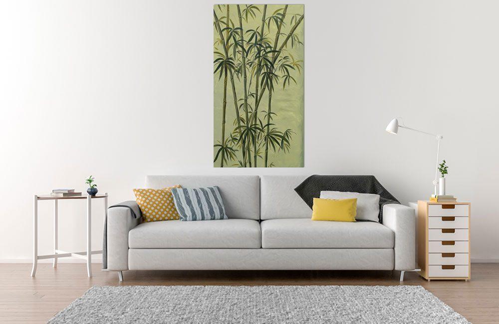 Bambus Leinwandbild