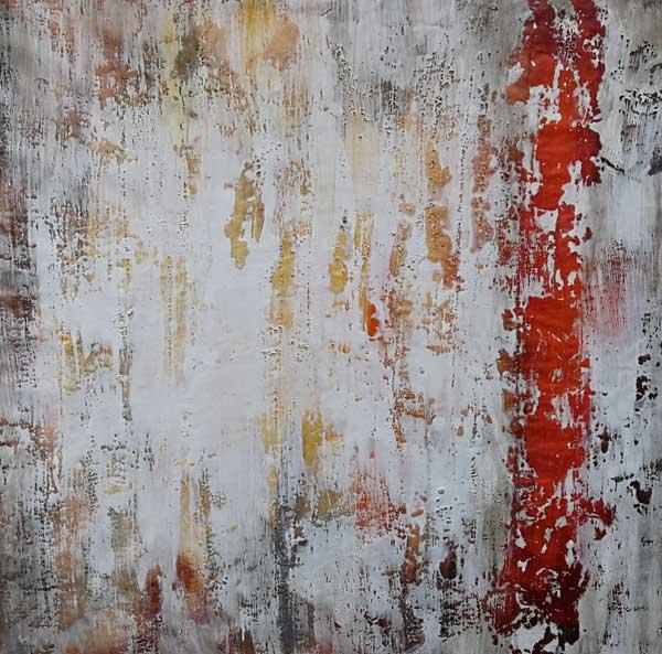 Munzinger Leinwandbild Rot Grau Kupfer