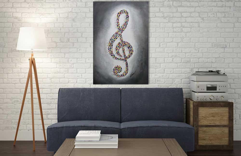 Musik Leinwandbild Original
