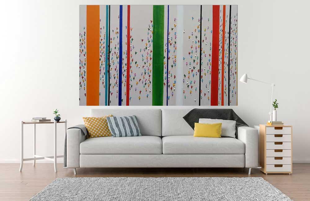 Acrylbild auf Leinwand Bunte Streams