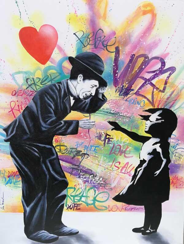 Graffiti auf Leinwand