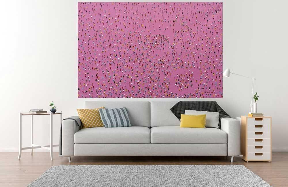 Pink Pointers Leinwandbild Wohnzimmer