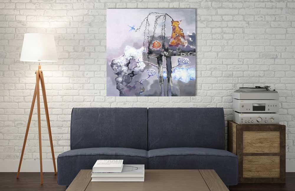 Wandbild Wohnzimmer Neue Kraft Leick