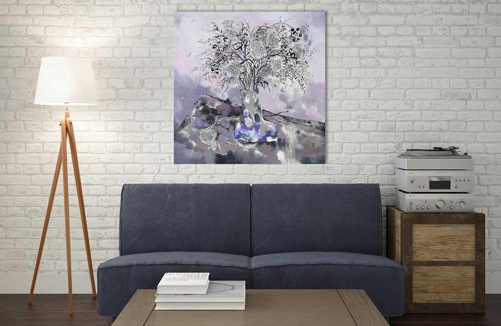 Leinwandbild Weiße Blüten