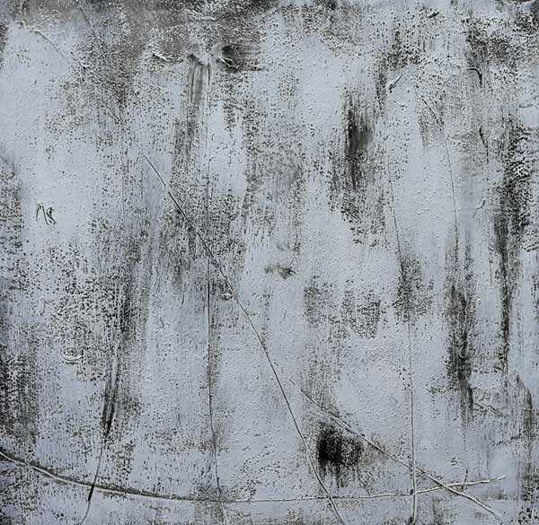 Handgemaltes Leinwandbild Grau Munzinger