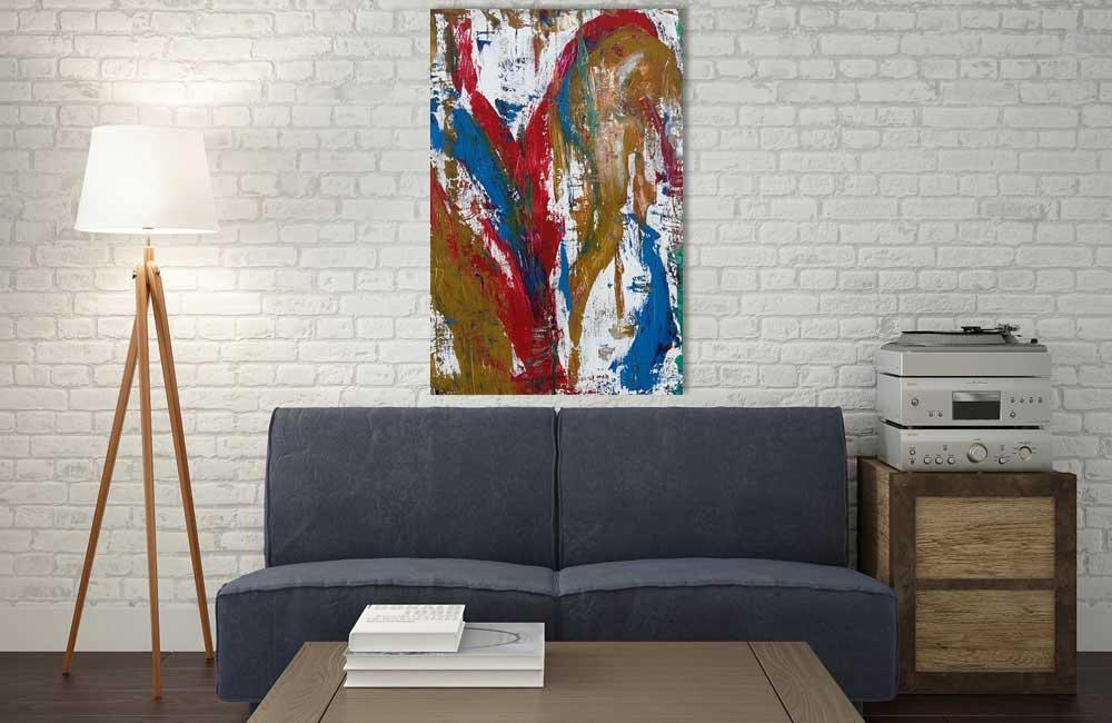 Abstraktes Leinwandbild Wohnzimmer