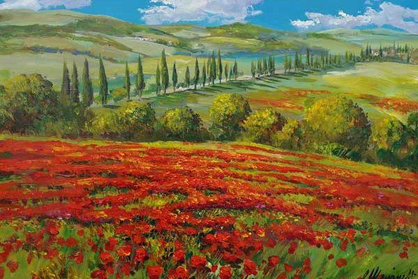 Leinwandbild Toskana Rot