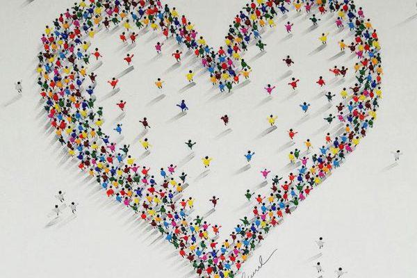 Herz Pointers Bild auf Leinwand