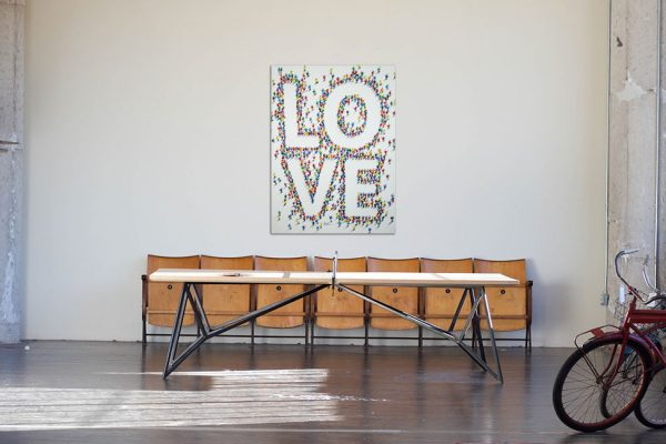 Leinwandbild Acryl im Hochformat Love